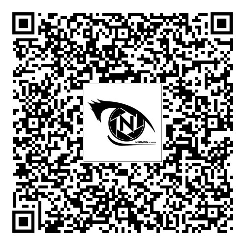 Nikmon vCard QR code