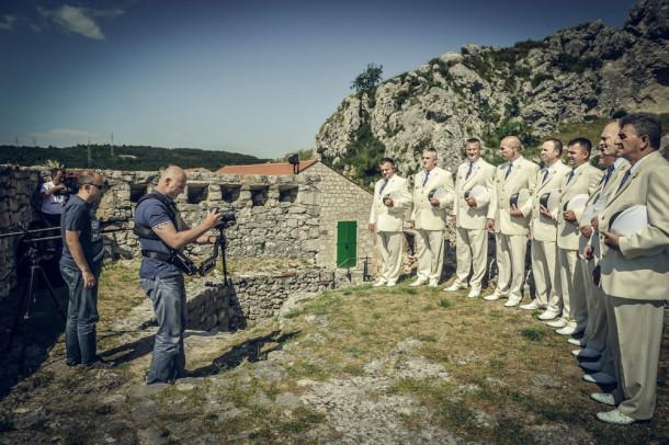 Snimanje spota za klapu Sv Juraj